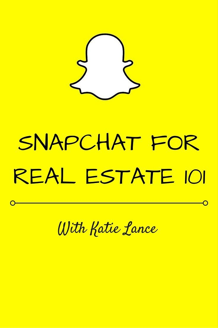 If you are wondering how to use Snapchat for real estate, social media strategist @katielance1 will make it easy to understand and put to use!