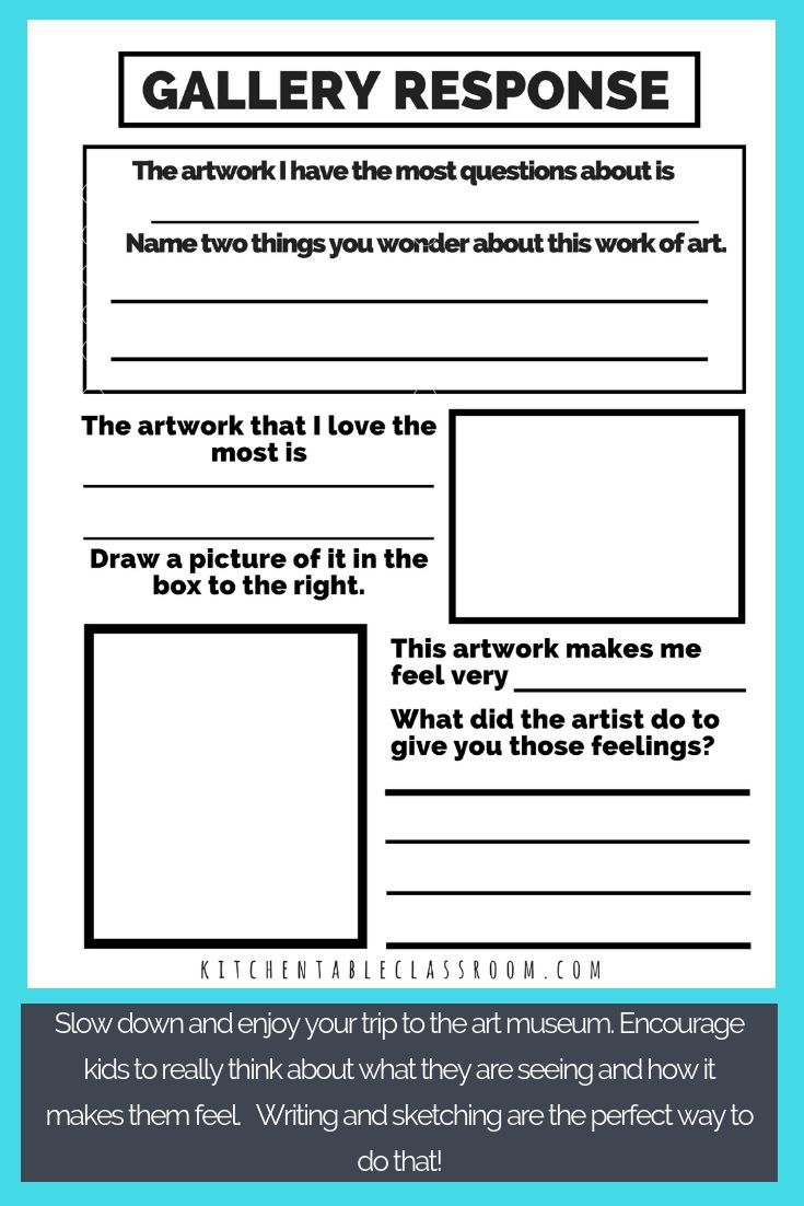 Visit A Museum With Kids Printables And Books To Make It Fun The Kitchen Table Classroom Museum Printables Kids Art Classroom
