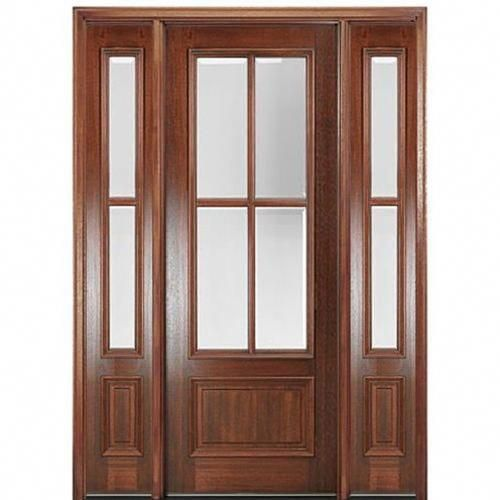 Mai Doors Dd84l 1 2 True Divided Lite 8 0 Tall 4 Lite Panel Bottom Mahogany Exterior Door W Wood Doors Interior Wood Front Entry Doors French Doors Interior