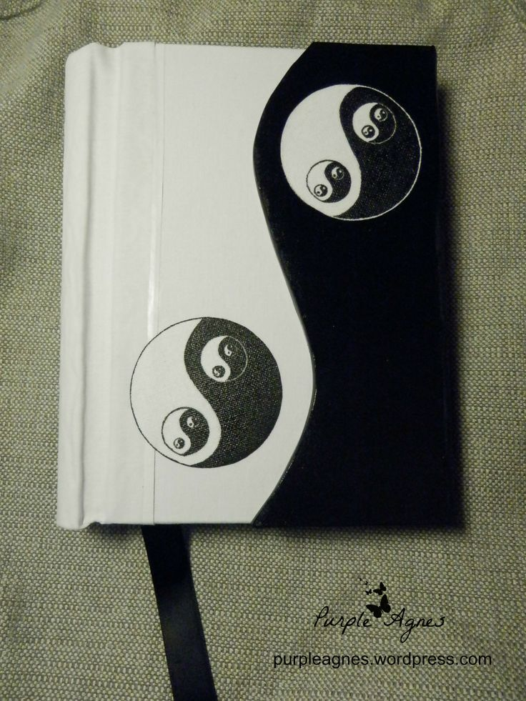 Yin-Yang Handmade Journal, Hard Cover, Hand painted cover, picture 1