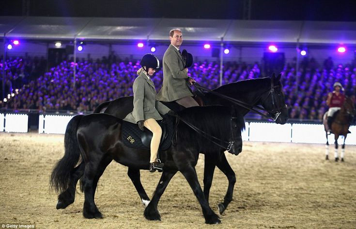 The Queen's granddaughter Lady Louise Windsor took part in the parade of horses alongside her father Prince Edward