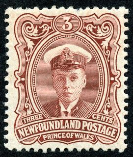 Newfoundland 1911 Scott 106 3c red brown Prince of Wales (Edward VIII)