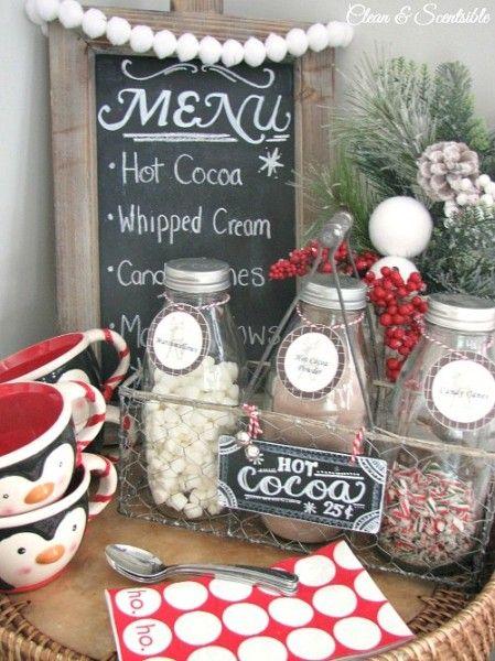Image result for diy christmas hot chocolate bar