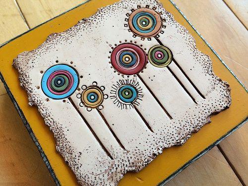 IMG_1607 | Lollipop Flowers- polymer/wood | Bull's Eye Studio | Flickr