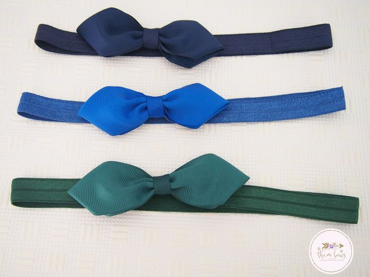 School headbands, school hair bow, navy blue, royal blue and dark green - school uniform - girls back to school - baby girl headband by ThemBowsbyKathy on Etsy