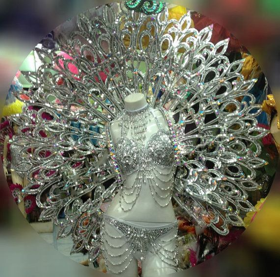 Samba Vegas Showgirl Indian Goddess Halo Angel Round by DaNeeNa