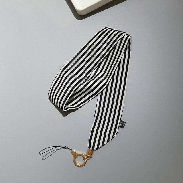 Scarf Ribbon Strap Neck For Keys Id Card Holders Chain Stripe