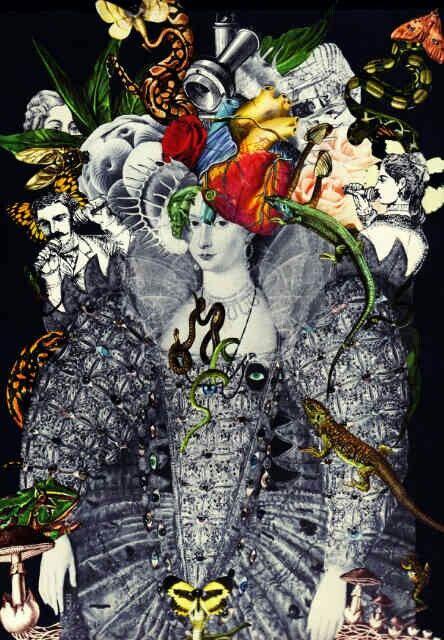 Notre Dame Des Fleurs  #collage #art #analogcollage #cutandpaste