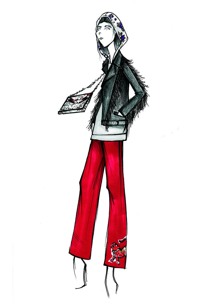 My Illustration! #Gucci #outfit