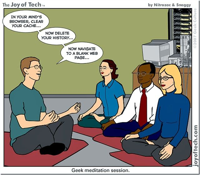 The geek meditation session