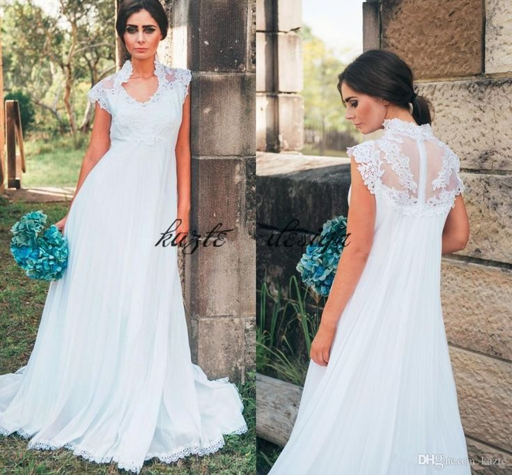 Country Maternity Wedding Dresses Empire Waist Applique Lace Floor Length Chiffon 2018 Summer Outdoor Garden Pregnant Bridal Gowns Cheap Mermaid Wedding Dress Long Sleeve Wedding Dresses Lace Wedding Dress Online with $148.58/Piece on Kazte's Store | DHgate.com