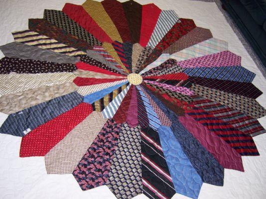 """Necktie quilt """"The Ties that Bind"""""""