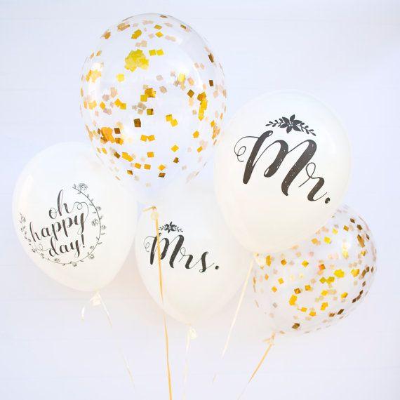 HERR und Frau Hochzeit Ballons Engagement von Twigsandtwirlsllc