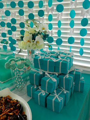Little Baby Blue Baby Shower Favors Tiffany Inspired Blue
