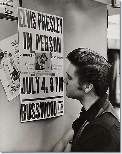 Elvis Presley: Memphis, June 14,1956. Glad I am doing my research paper on this man.