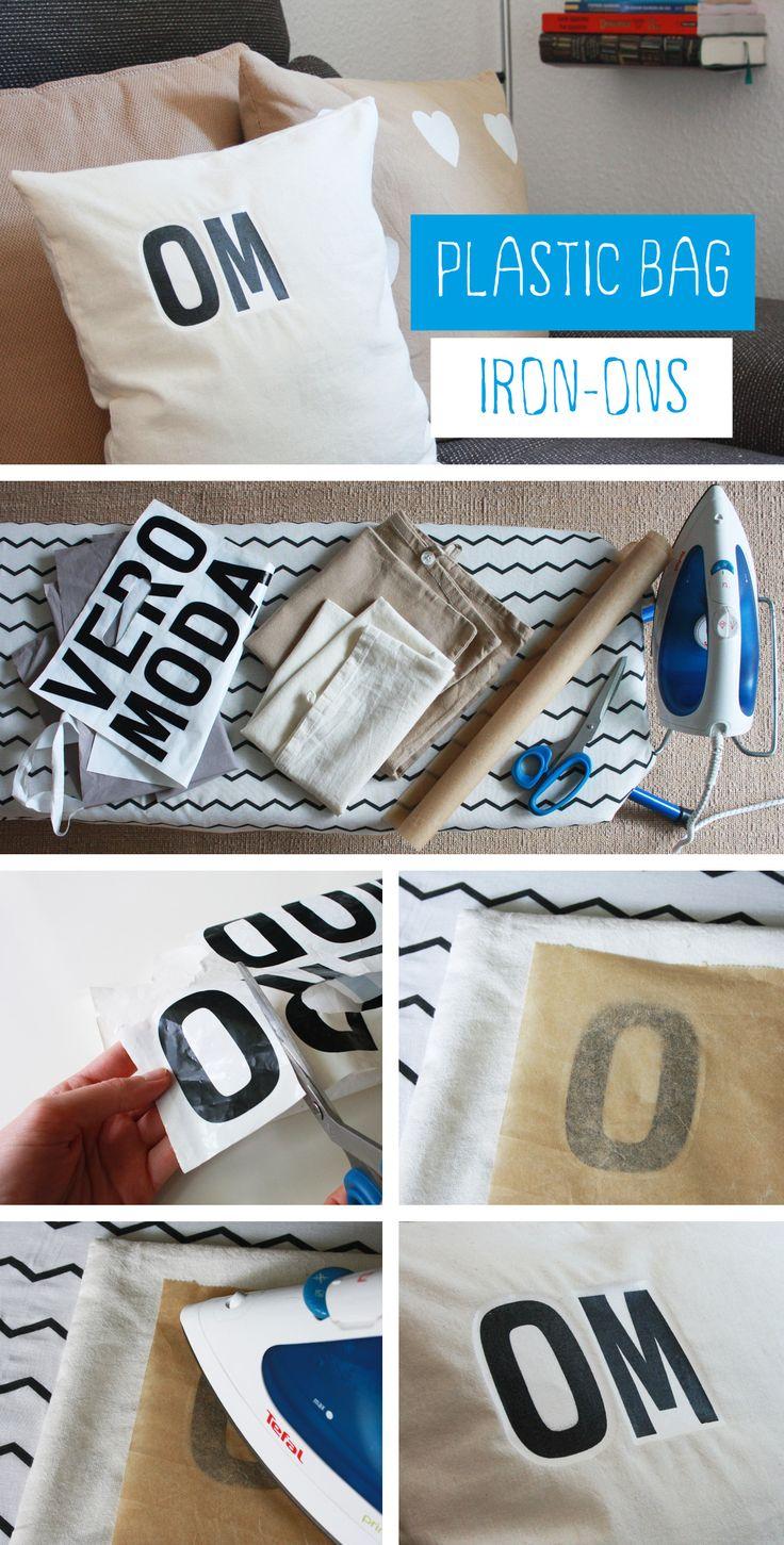 Unglaublich! Kissen bedrucken mit Plastiktüten. Es funktioniert wirklich! Der einfachste Kissenprint ever! Einfach Einkaufstüten aufbügeln. Schau auch mein Youtube Video dazu: https://www.youtube.com/watch?v=kJprcCS8dr0