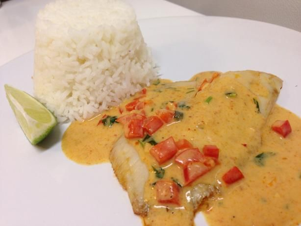 Broiled Tilapia With Thai Coconut- Curry Sauce Recipe - Food.com - 116882