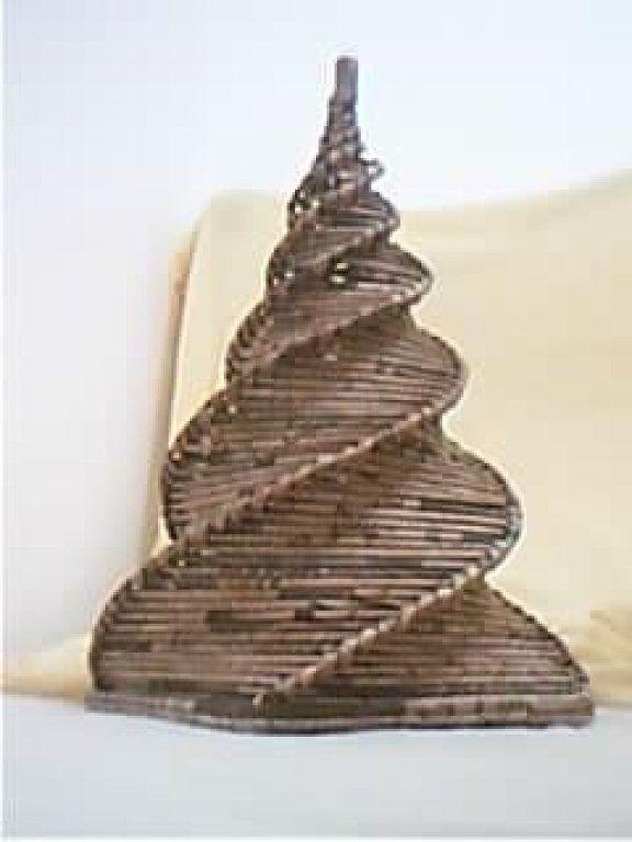 Cester a en papel de peri dico cester a china - Cesteria con papel periodico paso a paso ...