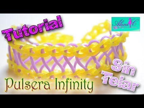 ▶ ♥ Tutorial: Pulsera Infinity de gomitas (sin telar) ♥ - YouTube