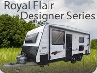 The Royal Flair Designer Series is the ideal cost effective package for your touring adventure or that fantastic getaway holiday. With a massive range of standard features and five layouts to choose from, the Designer Series offers all the comforts you would expect from Royal Flair at a very affordable price
