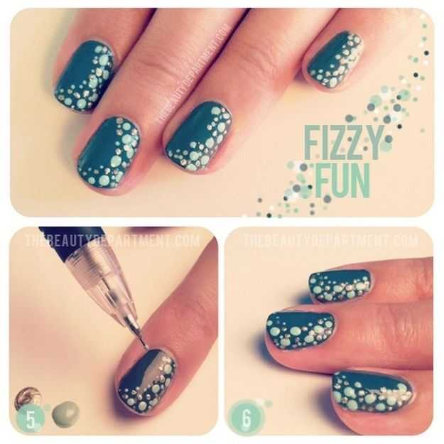Use a mechanical pencil to make tiny dots. | 32 Easy Nail Art Hacks For The Perfect Manicure