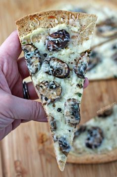 These Three Cheese Mushroom Flatbreads are restaurant-quality you can make at home in just 15 minutes! Only 265 calories or 8 Weight Watchers SmartPoints. www.emilybites.com