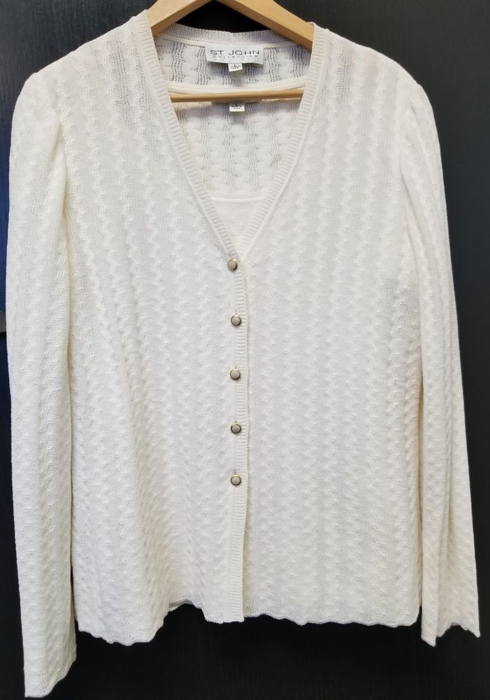 3605adf0966cc Women s ST JOHN Collection Knit Cardigan and Top Set Size L  STJOHN   CardiganSweater