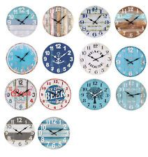 Wall Clock | Industrial Rustic Beach Themed Clocks 34cm In Stock