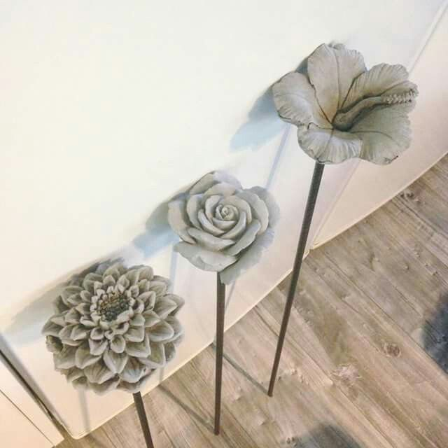 Concrete flowers? How are these made?                                                                                                                                                                                 More