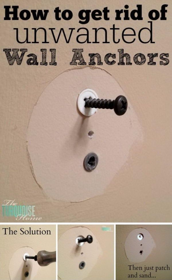 How to Get Rid of Unwanted Wall Anchors. In: 30 DIY Home Repair and Improvement Ideas