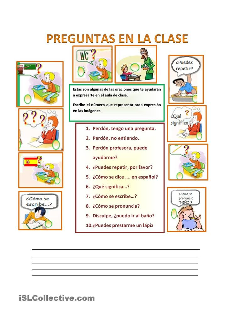 Expresiones útiles en clase