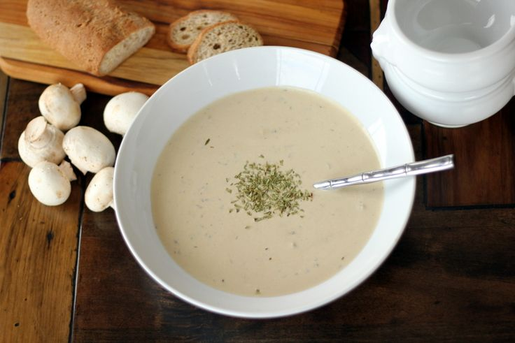 low carb mushroom soup, cream of mushroom soup, gluten free soup