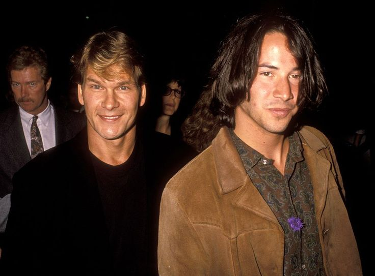 Red Carpet Flashback! 'Point Break' Stars Keanu Reeves and Patrick Swayze at the 1991 Premiere