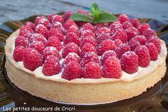 Tarte aux framboises et crème mousseline à la vanille - Les petites douceurs de Cricri