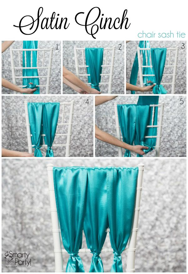 How to tie a Satin Cinch chair sash!   Smarty Had A Party