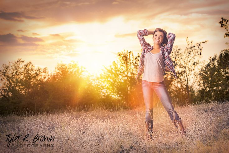 @meghandianne - Arbor Hills Nature Reserve - Senior Portraits - Plano, Texas - Field - #seniorpics - Sunset - Ideas for Girls - Flannel - Senior Pictures - Tall Grass - Class of 2015 - Heritage High School - Tyler R. Brown Photography