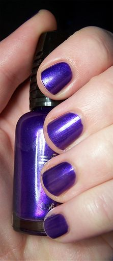 Wet N Wild Fast Dry nail polish, color: Buffy the Violet Slayer (chrome deep royal purple, high gloss) 2011