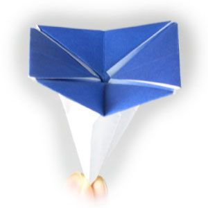 How to make an origami morning glory (http://www.origami-flower.org/flower-origami-morning-glory.php)