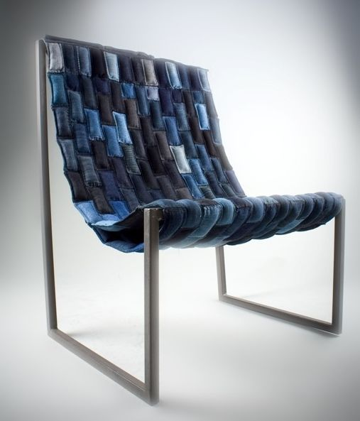 Reclaimed Denim Chair