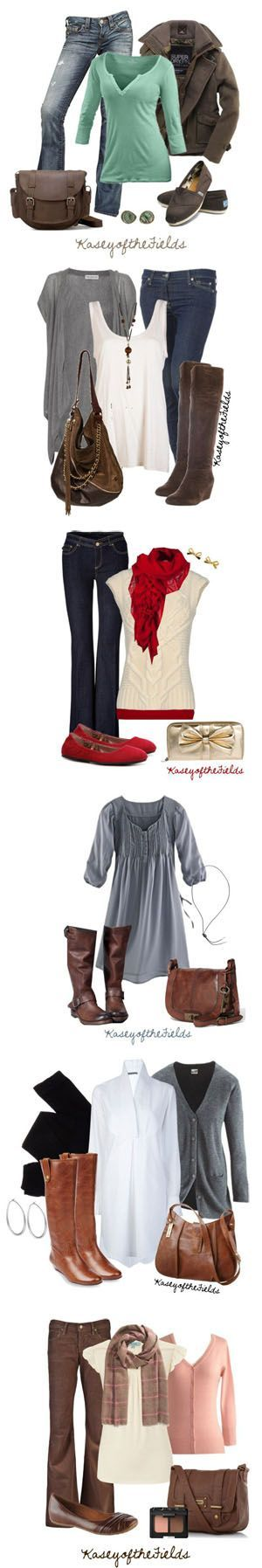 Are you almost ready for Fall? These Fall fashion ideas for women are perfect! Whether you want to rock a dress or some cute boots, these outfit ideas are so cute and practical! Love the idea of all the denim and cute boots!