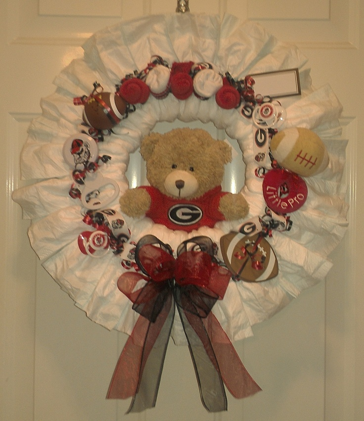 GA Bulldogs diaper wreath