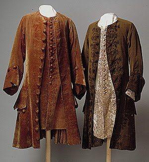 Casaca, final do século 17 – início do século 18. . A partir desta época, as dimensões tornaram-se menores por algum tempo, e o casaco transformou-se em casaca.