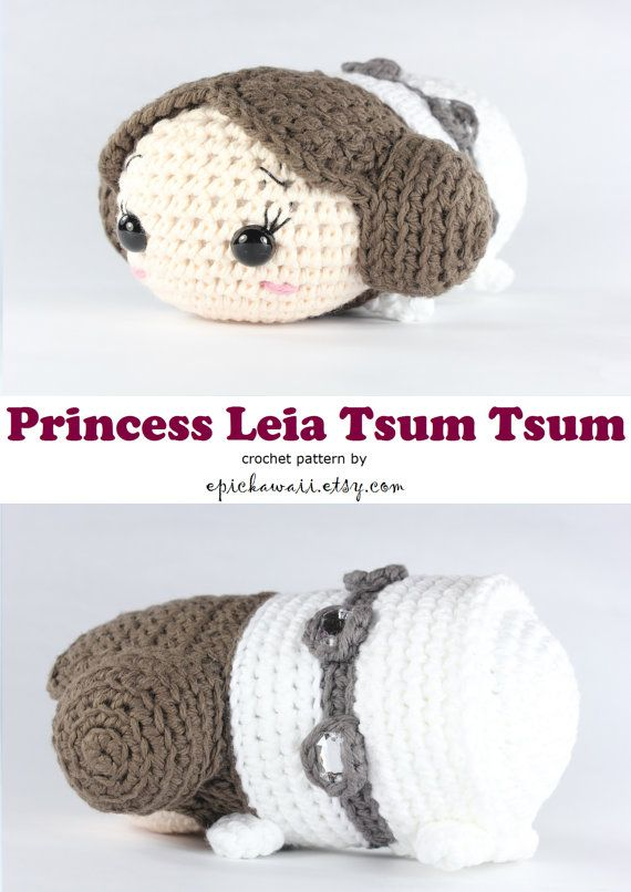 PATTERN: Princess Leia Tsum Tsum Crochet Amigurumi by epickawaii