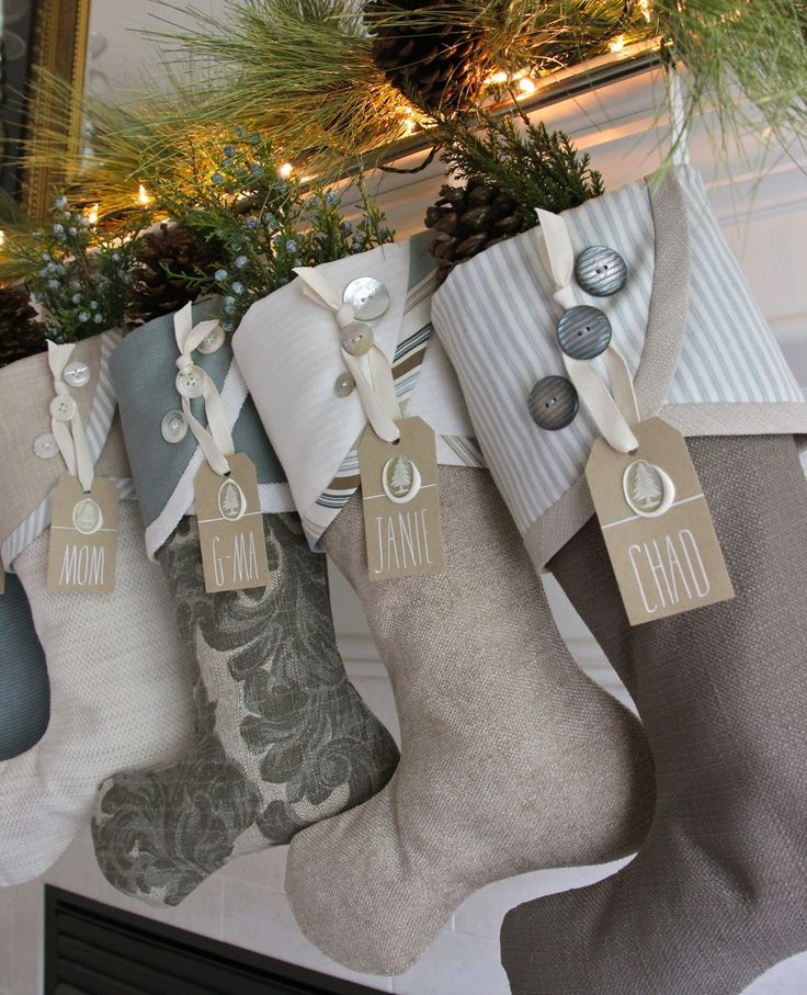 2014 Christmas Stocking Round-up | South House Designs - love the name tags