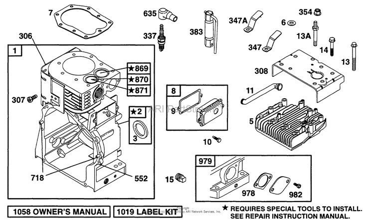 Briggs and Stratton 195422-1128-01 Parts Diagram for