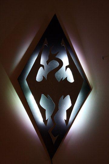 SALE//Skyrim Imperial Symbol Dragon Lighted Wall Decoration