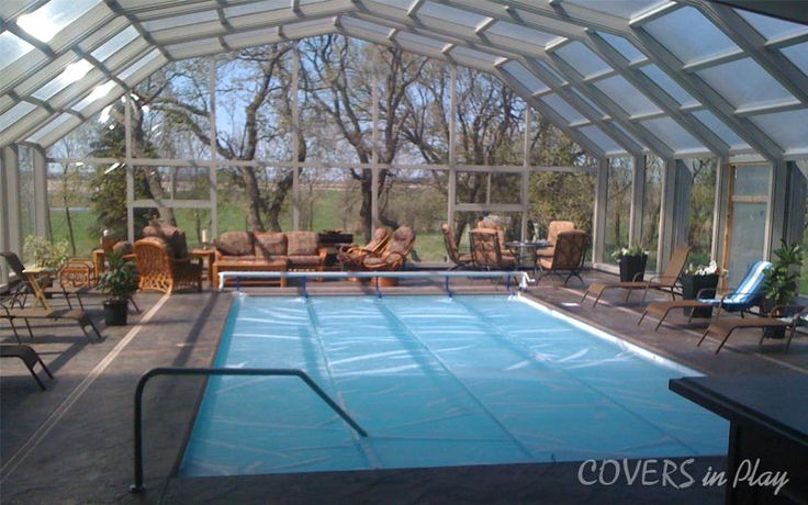 Attached Operable Triple Peak pool enclosure 39 ft wide x 40 ft long with 3 bays, 2 of them moving away from the house coming to rest under the third fixed end bay, includes automatic electric drive system, 2 windows with flyscreens.