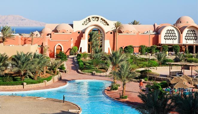 Sharm el Sheikh: 5 or 7 Nights All Inclusive with Flights £249     ATOL 3517 registered     Stay in the 4-star Three Corners Palmyra Resort Hotel     Flights From London Gatwick, Stansted & Luton     All inclusive     Stay in an en suite double or twin standard room