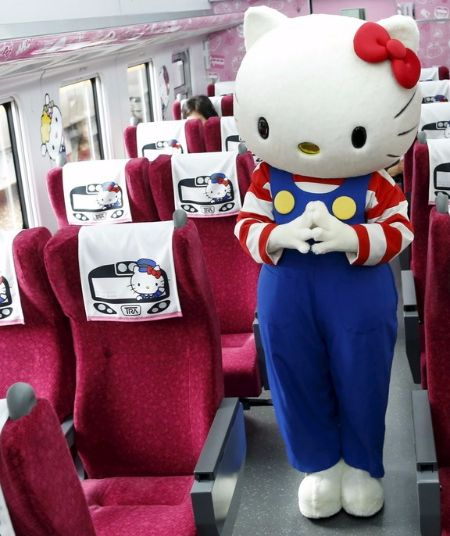 All Adorb! Take the New Hello Kitty–Themed Train in Taiwan