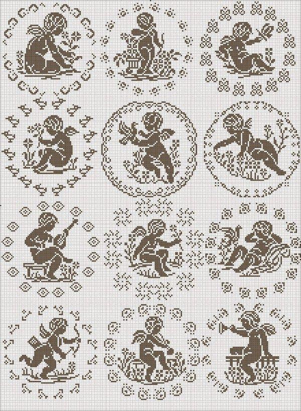 12 anges cherubs